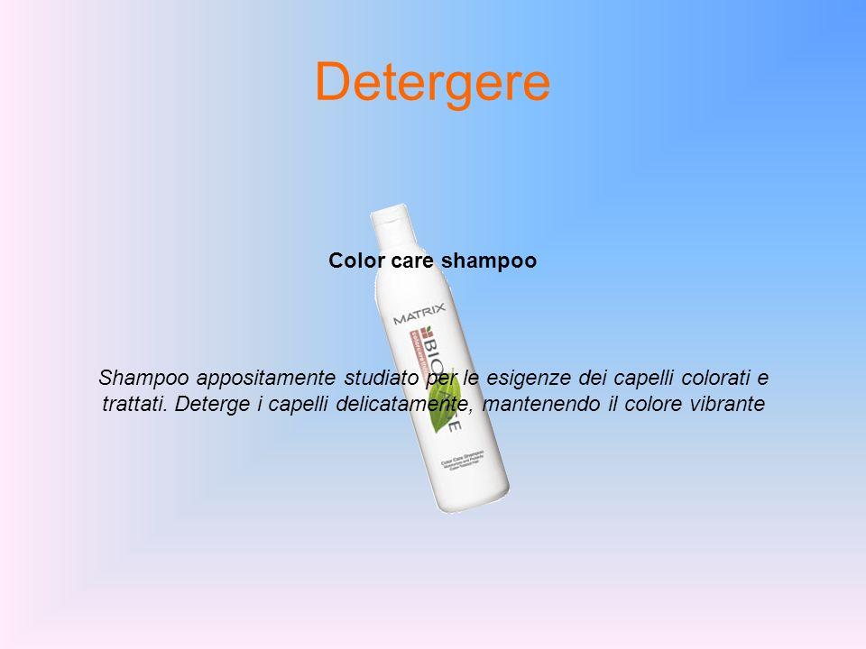 Detergere Color care shampoo Shampoo appositamente studiato per le esigenze dei capelli colorati e trattati. Deterge i capelli delicatamente, mantenen