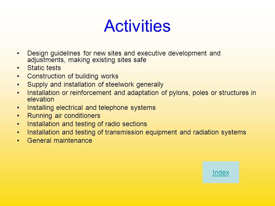 Chi Siamo Professionalità e organizzazione Gestione della struttura Attività svolte Sicurezza Inviateci il Vs curriculum