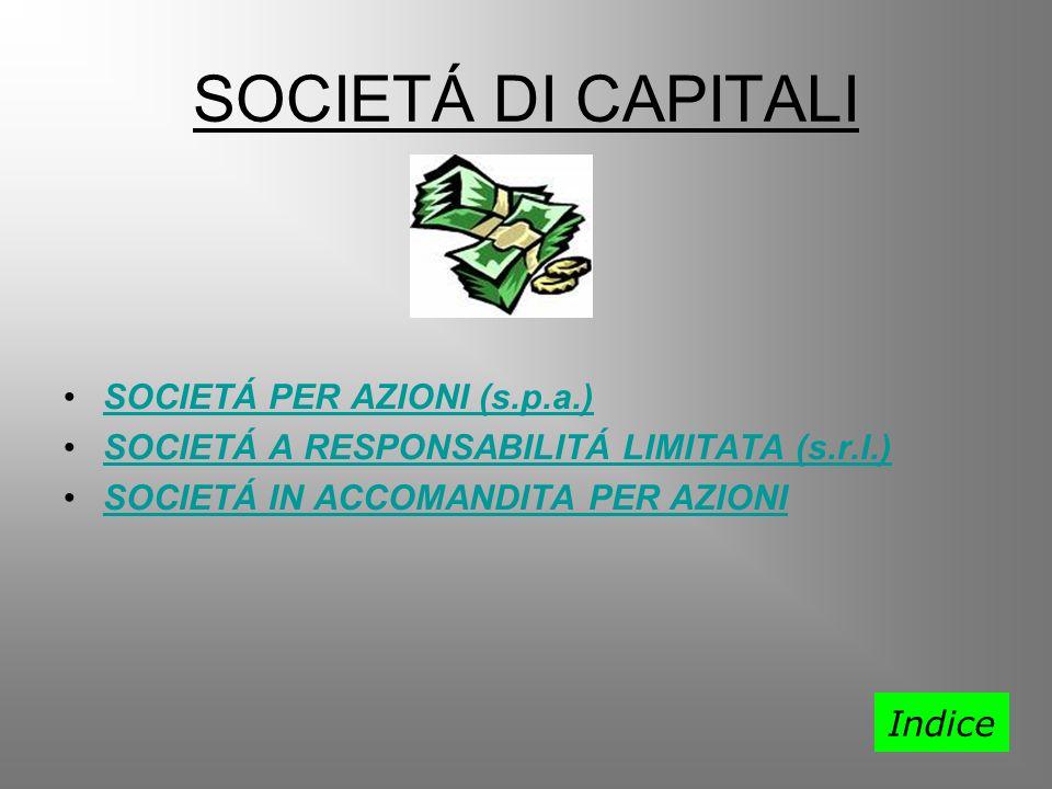 SOCIETÁ DI CAPITALI SOCIETÁ PER AZIONI (s.p.a.)SOCIETÁ PER AZIONI (s.p.a.) SOCIETÁ A RESPONSABILITÁ LIMITATA (s.r.l.)SOCIETÁ A RESPONSABILITÁ LIMITATA