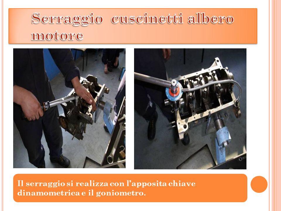 Il serraggio si realizza con lapposita chiave dinamometrica e il goniometro.