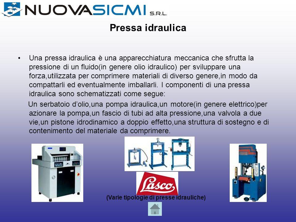 Cesoia È un macchinario utilizzato per il taglio di lamiere.