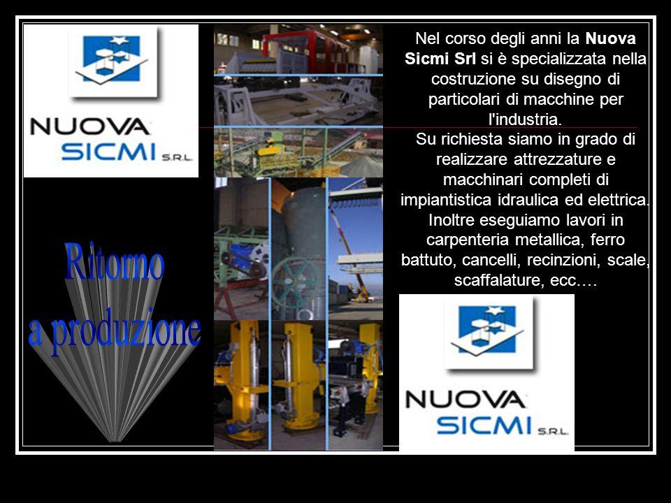 Nel corso degli anni la Nuova Sicmi Srl si è specializzata nella costruzione su disegno di particolari di macchine per l'industria. Su richiesta siamo