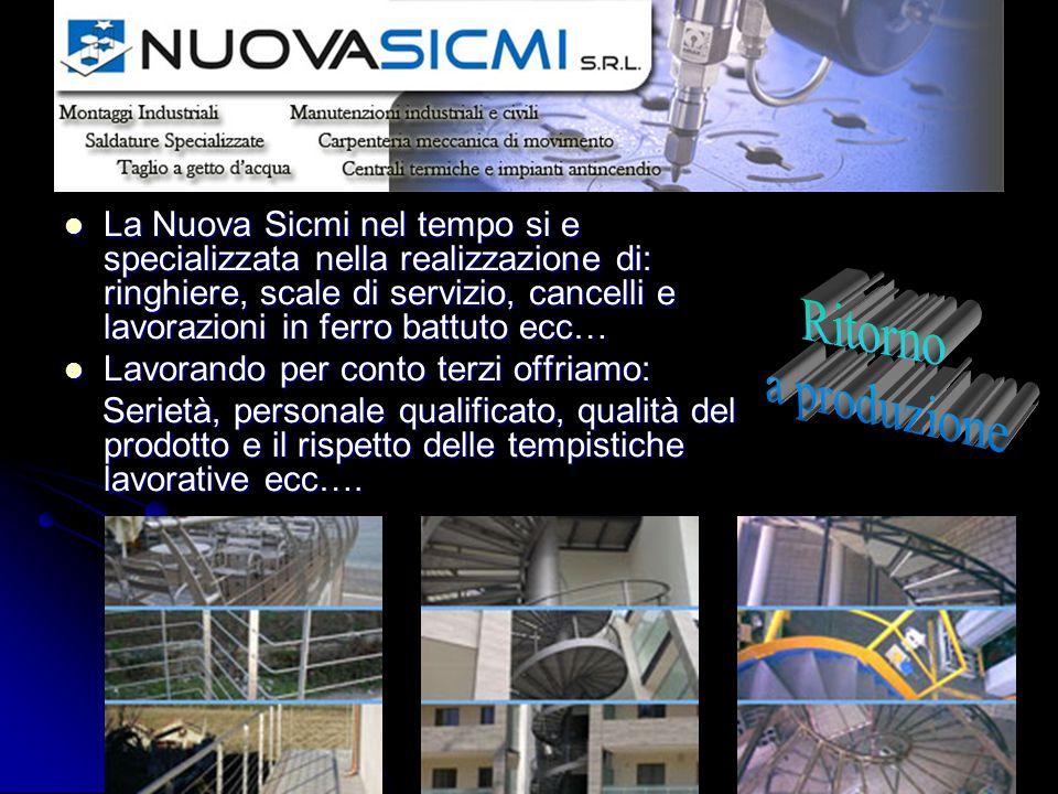 La Nuova Sicmi nel tempo si e specializzata nella realizzazione di: ringhiere, scale di servizio, cancelli e lavorazioni in ferro battuto ecc… La Nuov