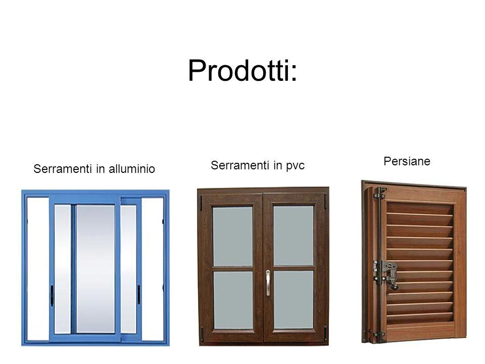 Prodotti: Persiane Serramenti in pvc Serramenti in alluminio