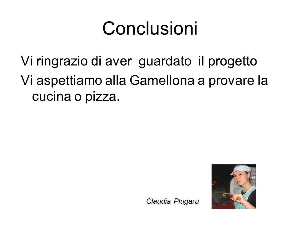 Conclusioni Vi ringrazio di aver guardato il progetto Vi aspettiamo alla Gamellona a provare la cucina o pizza.