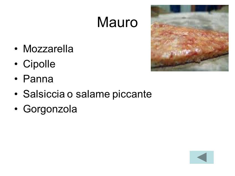 Porcellina Mozzarella Fontina Mozzarella di bufala Funghi porcini
