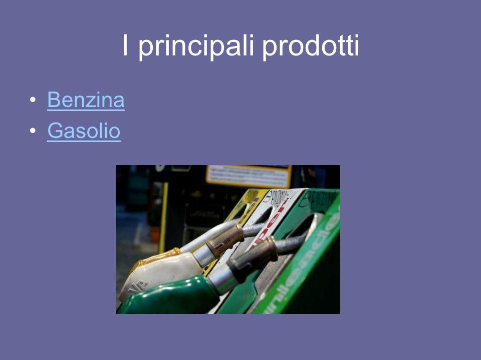 I principali prodotti Benzina Gasolio