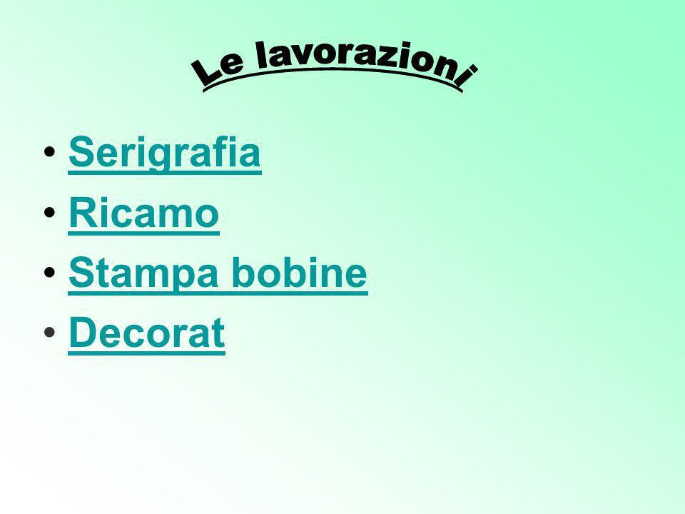 Serigrafia Ricamo Stampa bobine Decorat
