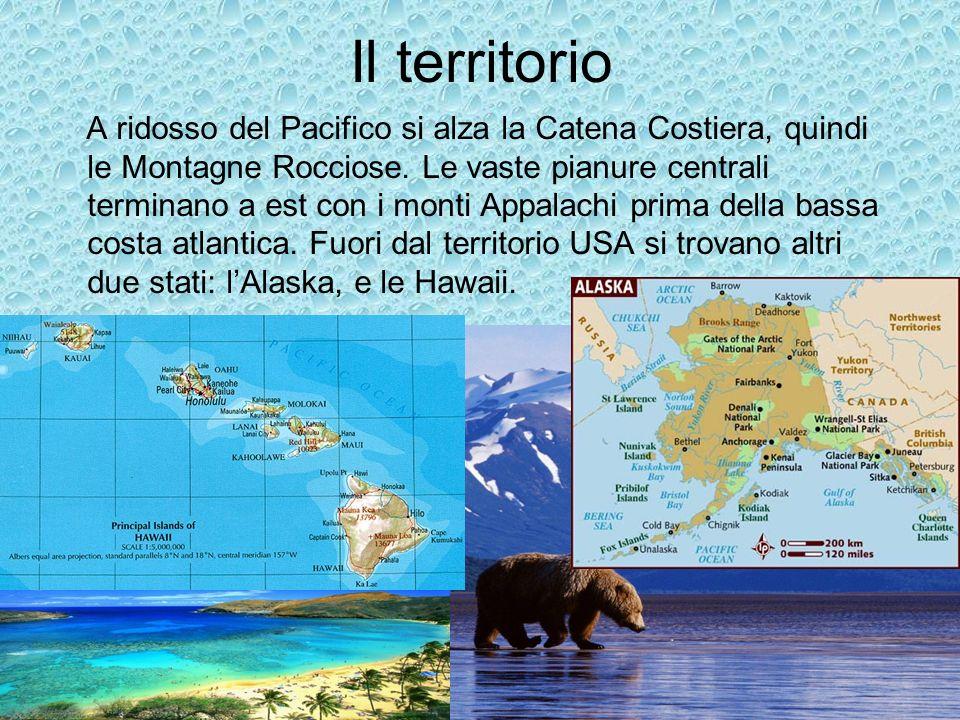 Il territorio A ridosso del Pacifico si alza la Catena Costiera, quindi le Montagne Rocciose.