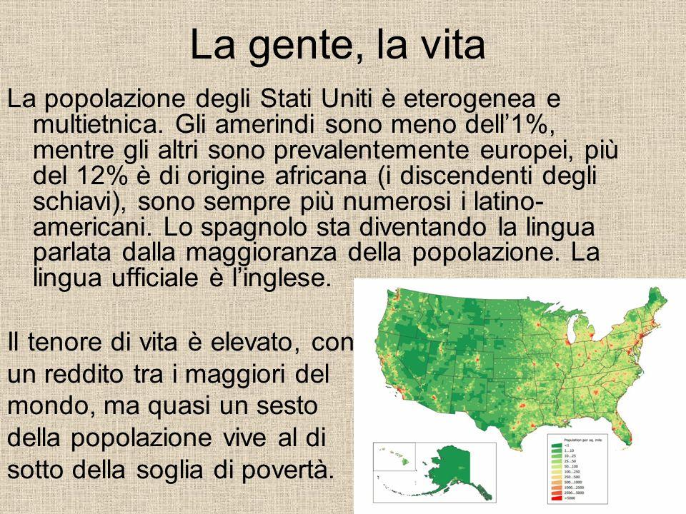 Stati dalle caratteristiche diverse Gli Stati Uniti coprono un territorio 32 volte più grande dellItalia: ogni zona differisce dallaltra per ambiente, società, economia.