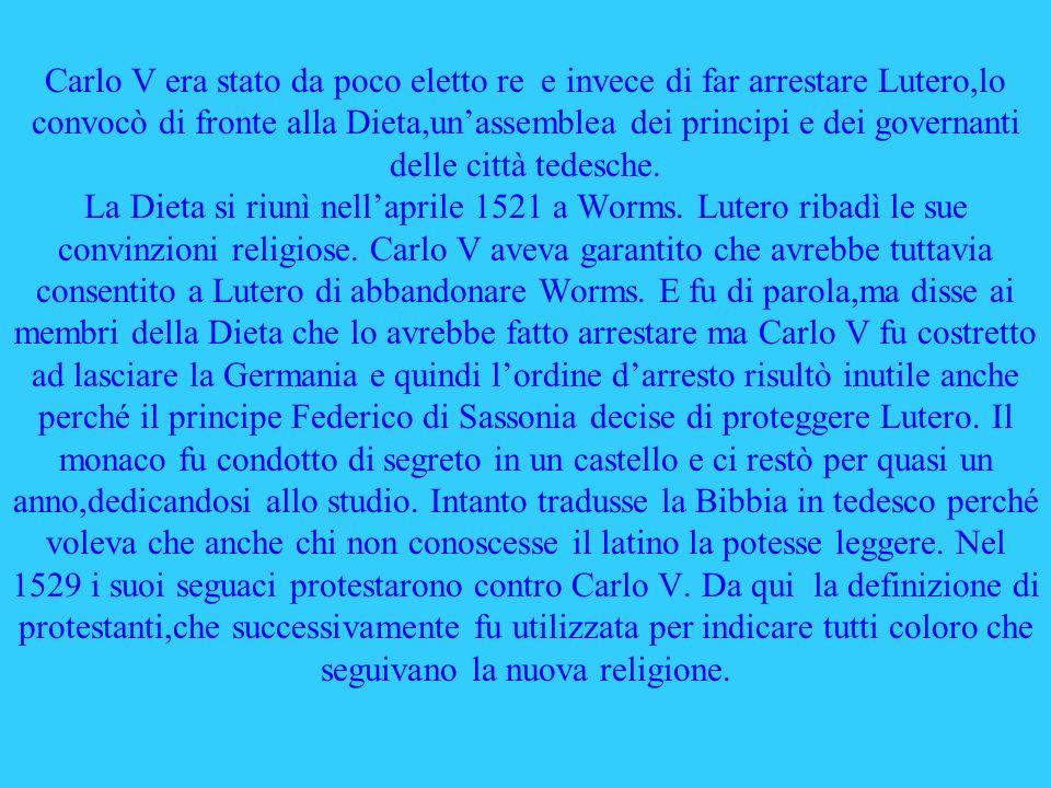 Con la riforma protestante terminò lunità religiosa delloccidente.