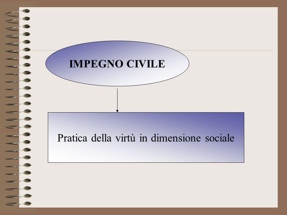 IMPEGNO CIVILE Pratica della virtù in dimensione sociale