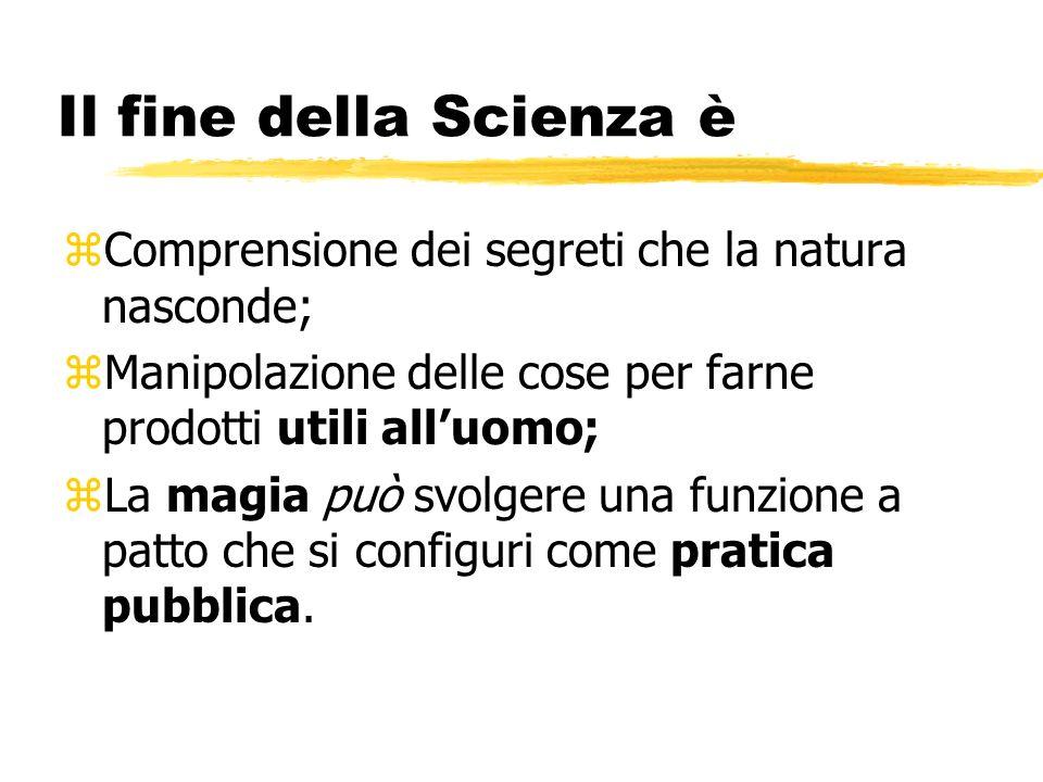 Francesco Bacone (1561 -1626) Una Scienza lucifera e fructifera