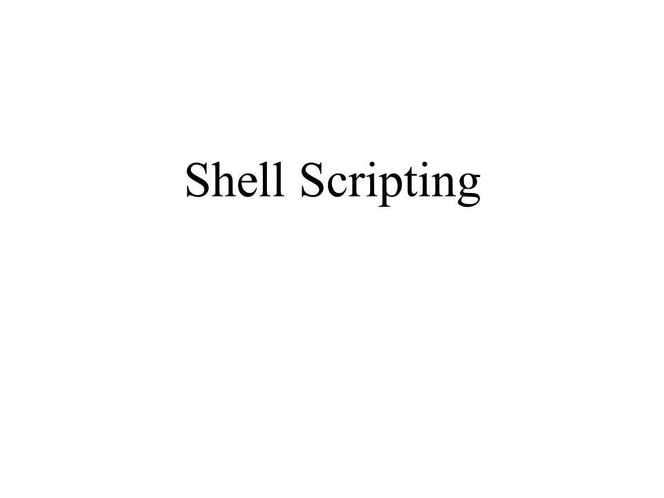 Parametri script I comandi usualmente hanno dei parametri passati come argomenti al momento dellinvocazione Ad esempio: grep giorgio.bashrc ha come argomenti giorgio e.bashrc La shell usa delle variabili speciali per accedere agli argomenti