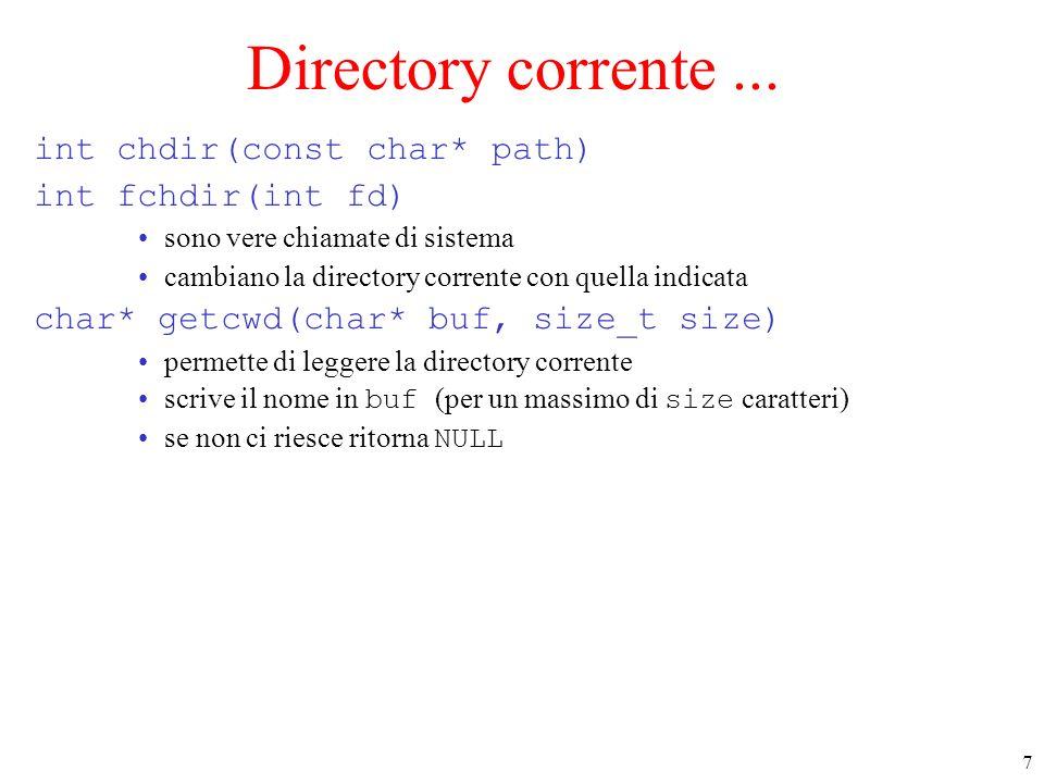 7 Directory corrente...