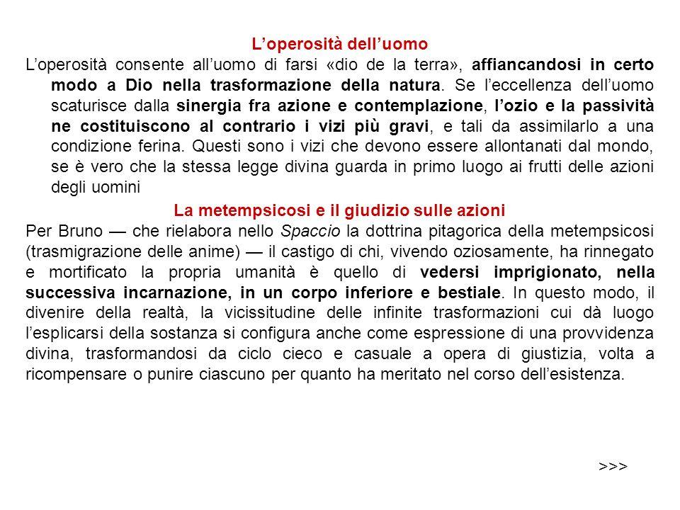 La riforma di Bruno La riforma di Bruno (forse appena abbozzata: ma fu ucciso a 52 anni!) è dunque lapprodo di tutta la Nolana filosofia. Una filosofi