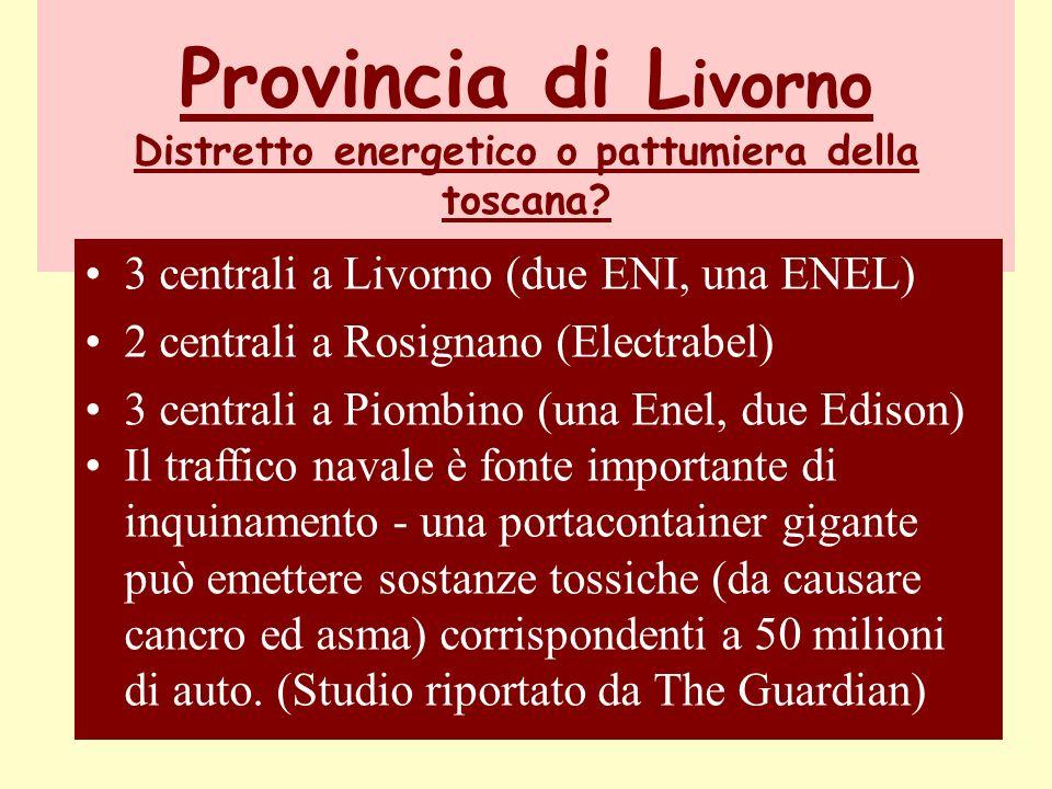 Provincia di L ivorno Distretto energetico o pattumiera della toscana.