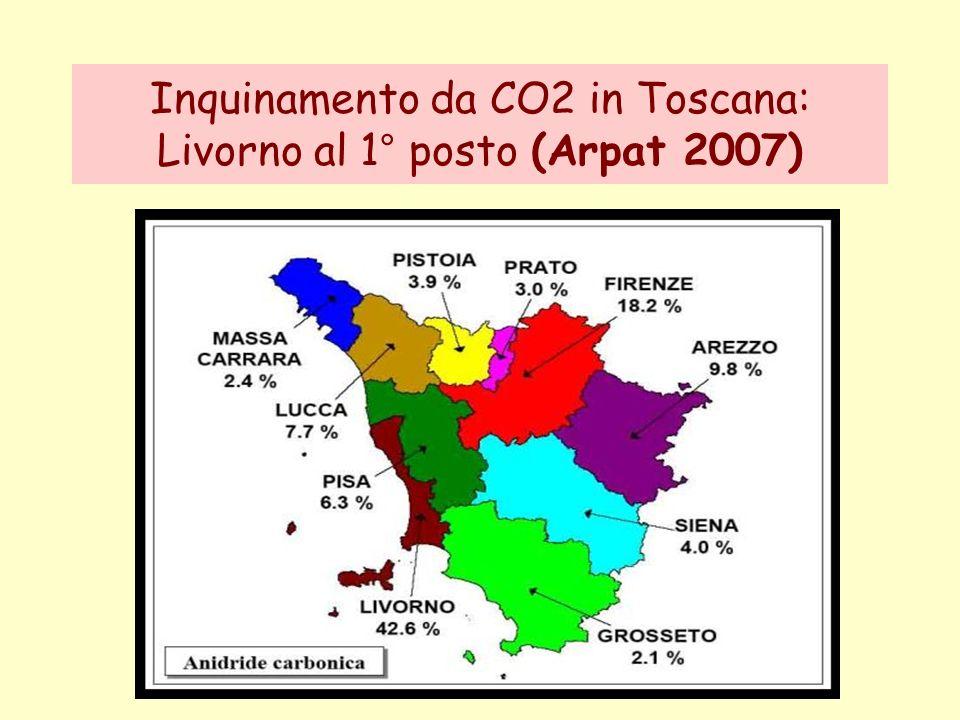 Inquinamento da CO2 in Toscana: Livorno al 1° posto (Arpat 2007)