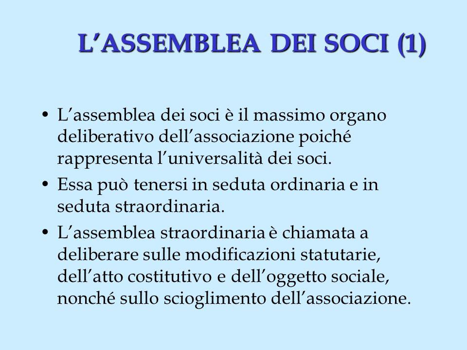 Il PRESIDENTE del Consiglio Direttivo(1) Il PRESIDENTE del Consiglio Direttivo (1) I poteri attribuiti al presidente devono risultare nello Statuto.