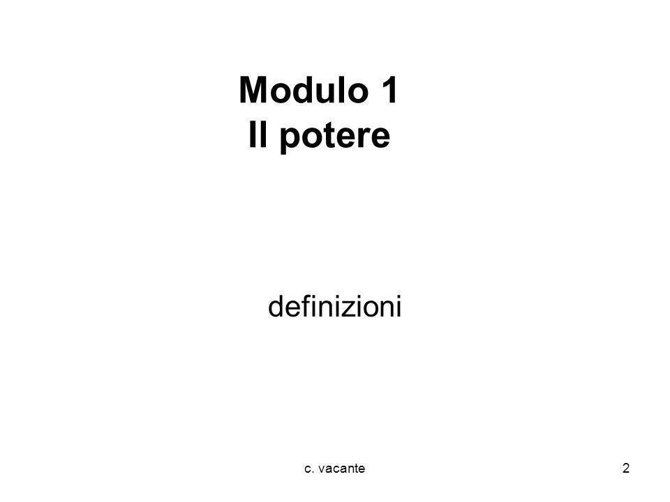 c. vacante2 Modulo 1 Il potere definizioni