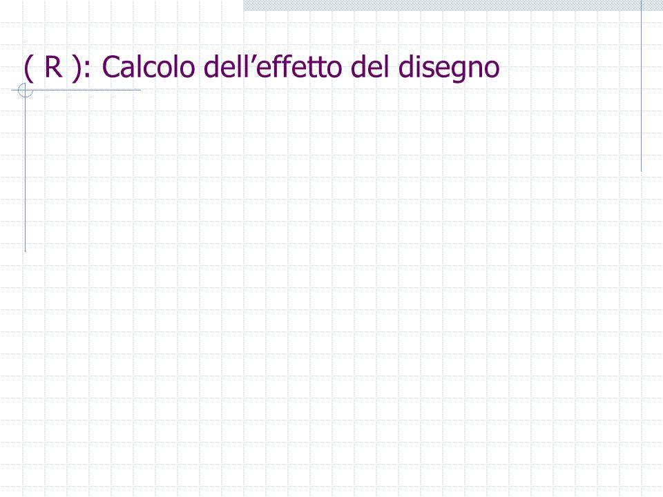 ( R ): Calcolo delleffetto del disegno