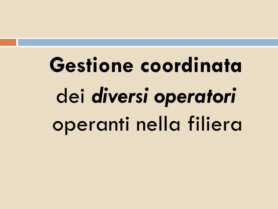 Gestione coordinata dei diversi operatori operanti nella filiera