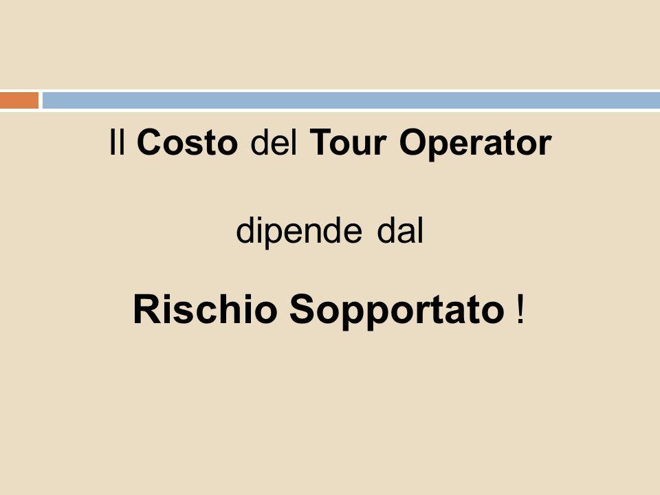 Il Costo del Tour Operator dipende dal Rischio Sopportato !