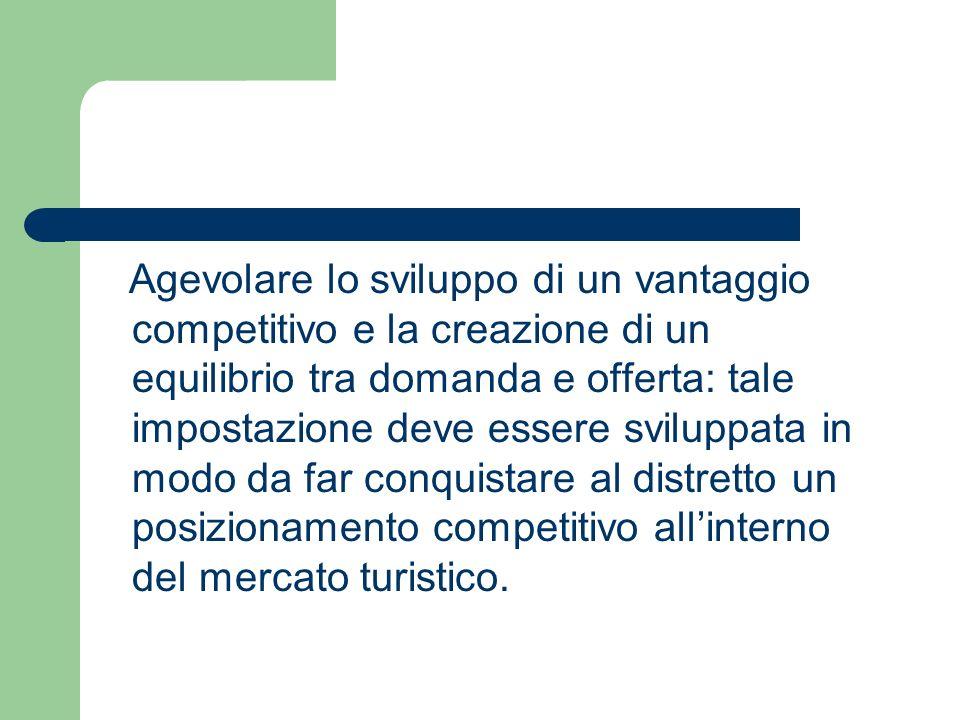 Agevolare lo sviluppo di un vantaggio competitivo e la creazione di un equilibrio tra domanda e offerta: tale impostazione deve essere sviluppata in m