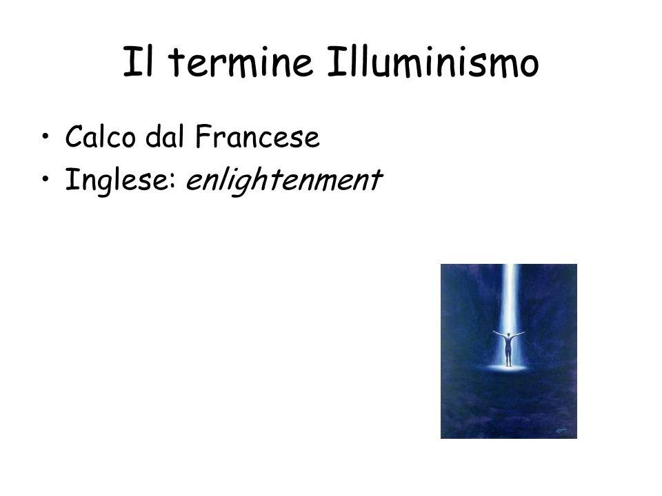 Il termine Illuminismo Calco dal Francese Inglese: enlightenment