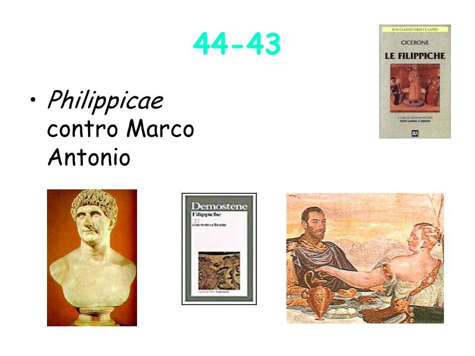44-43 Philippicae contro Marco Antonio