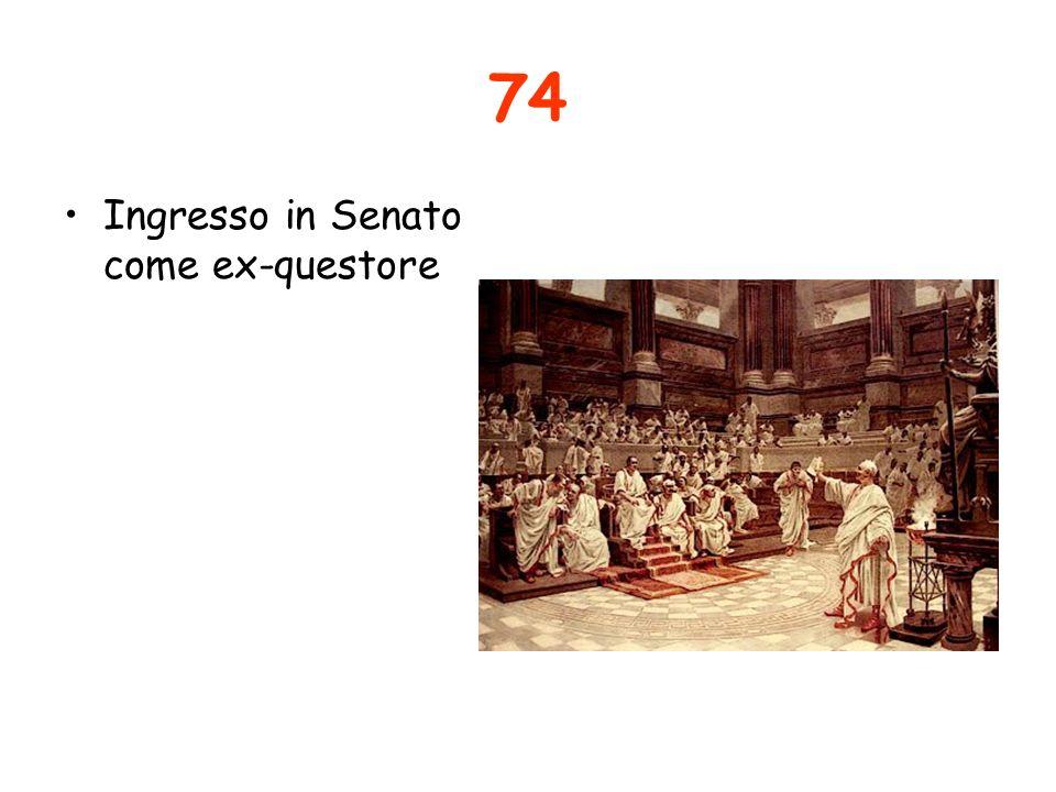 74 Ingresso in Senato come ex-questore