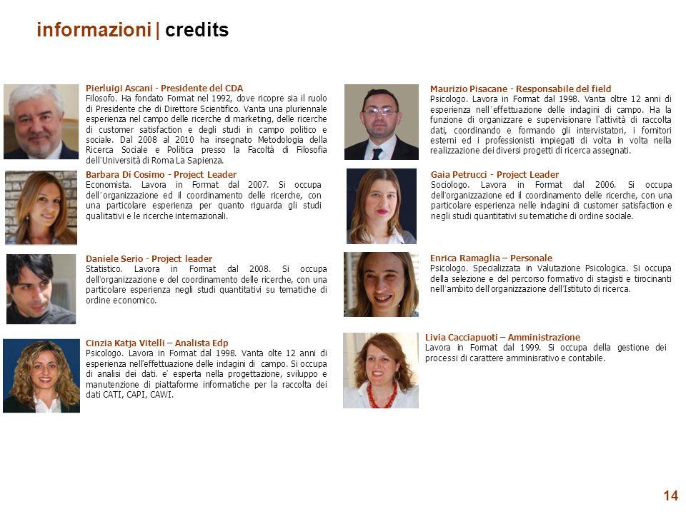 14 informazioni | credits Pierluigi Ascani - Presidente del CDA Filosofo. Ha fondato Format nel 1992, dove ricopre sia il ruolo di Presidente che di D