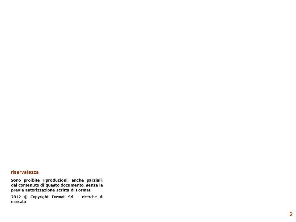 2 riservatezza Sono proibite riproduzioni, anche parziali, del contenuto di questo documento, senza la previa autorizzazione scritta di Format. 2012 ©