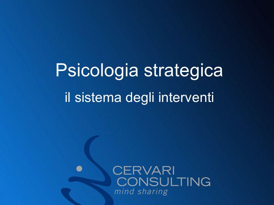 Psicologia strategica il sistema degli interventi