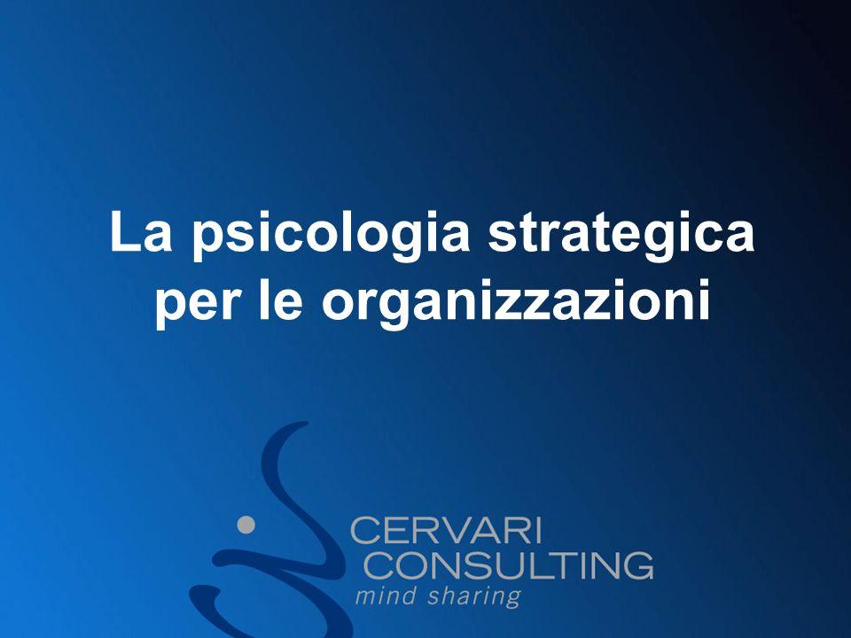La psicologia strategica per le organizzazioni