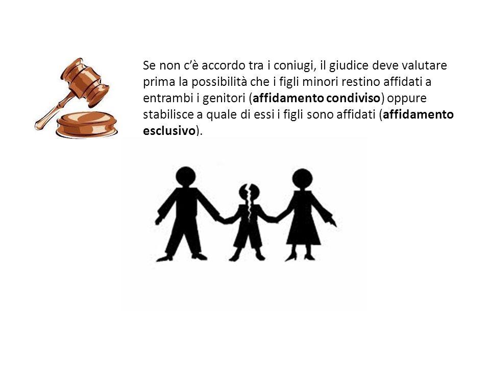 Se non cè accordo tra i coniugi, il giudice deve valutare prima la possibilità che i figli minori restino affidati a entrambi i genitori (affidamento