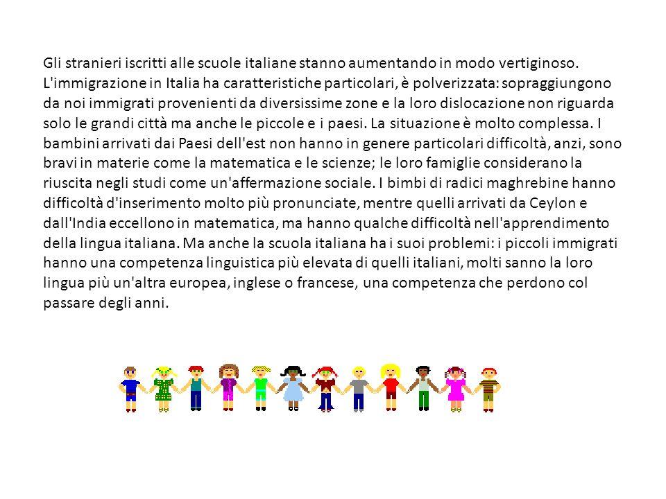 Gli stranieri iscritti alle scuole italiane stanno aumentando in modo vertiginoso. L'immigrazione in Italia ha caratteristiche particolari, è polveriz