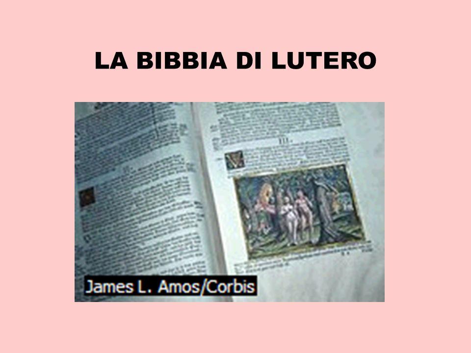 LA BIBBIA DI LUTERO
