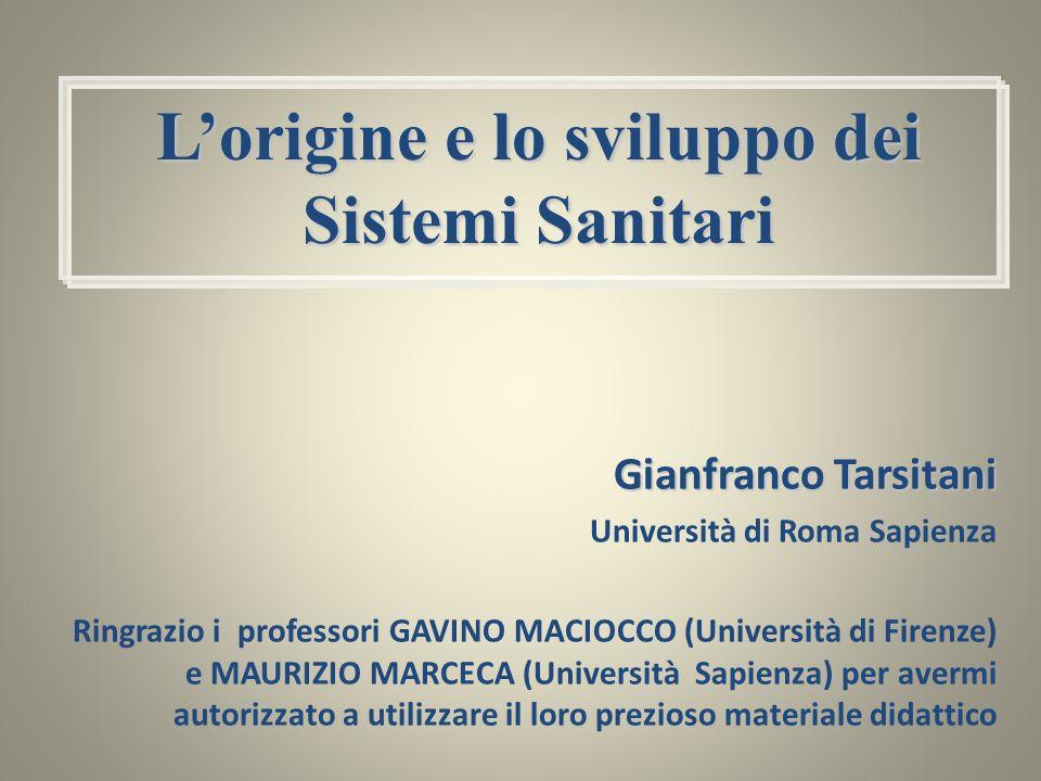 Gianfranco Tarsitani Università di Roma Sapienza Ringrazio i professori GAVINO MACIOCCO (Università di Firenze) e MAURIZIO MARCECA (Università Sapienz