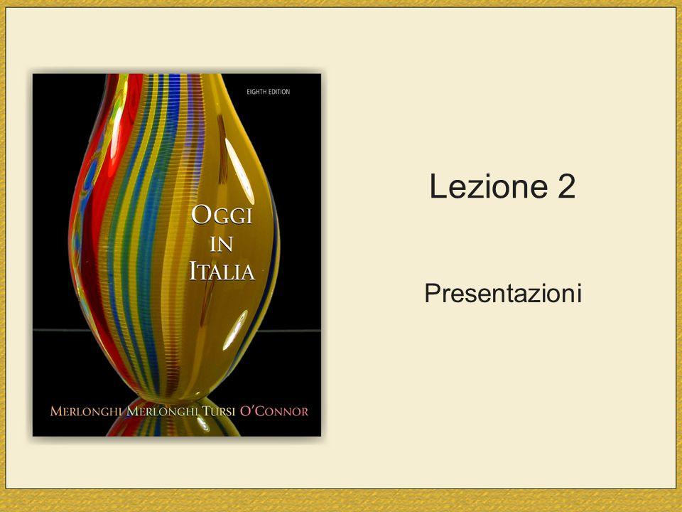 Lezione 2 Presentazioni