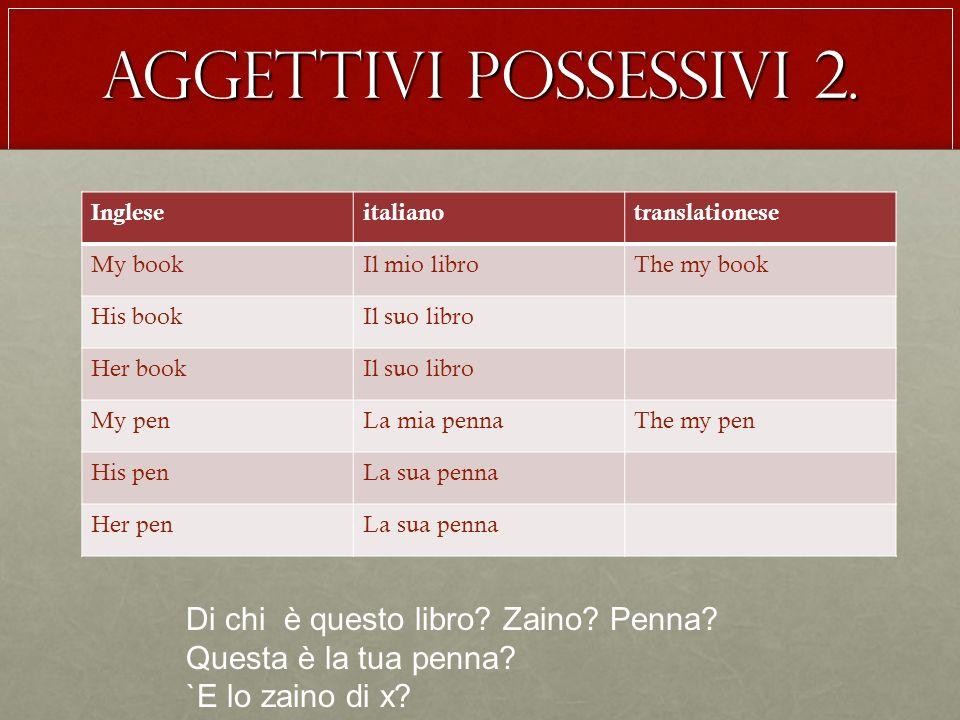 Aggettivi possessivi 2.