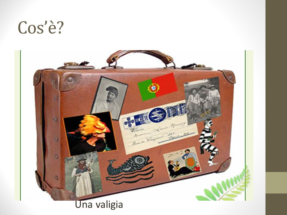 Cosè? Una valigia