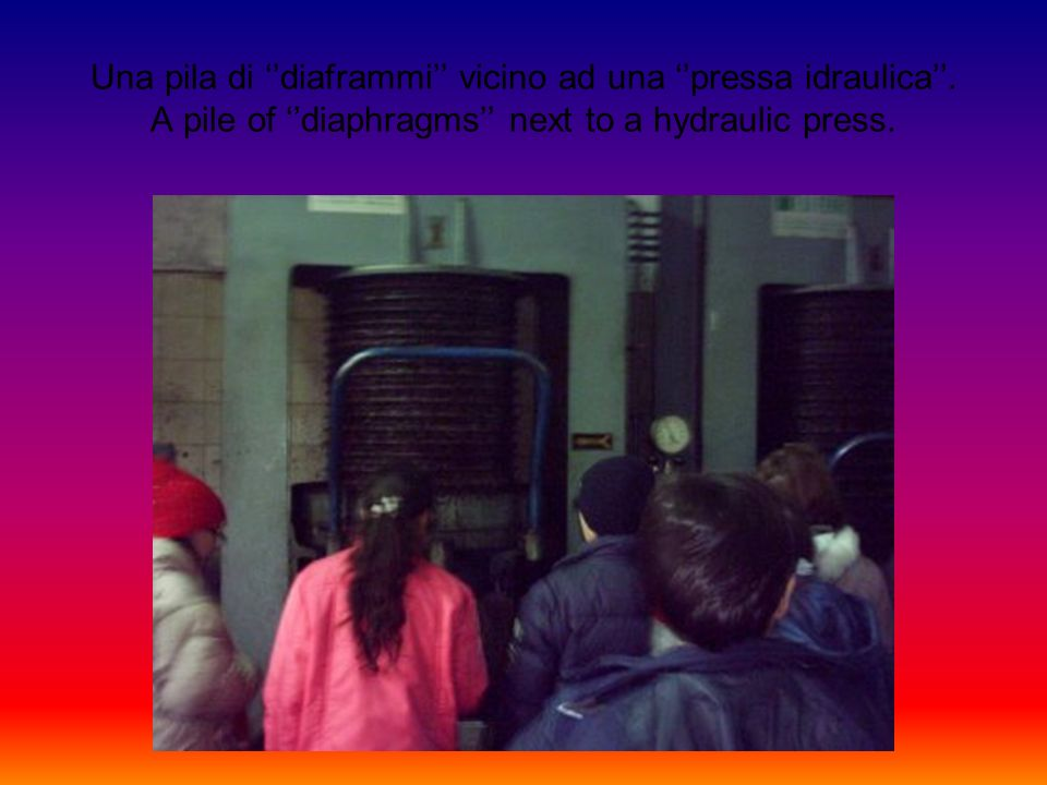 I diaframmi vengono,con solerzia, impilati dagli operai su un carrello. The diaphragms are, with diligence, piled up by the workers on a trolley.