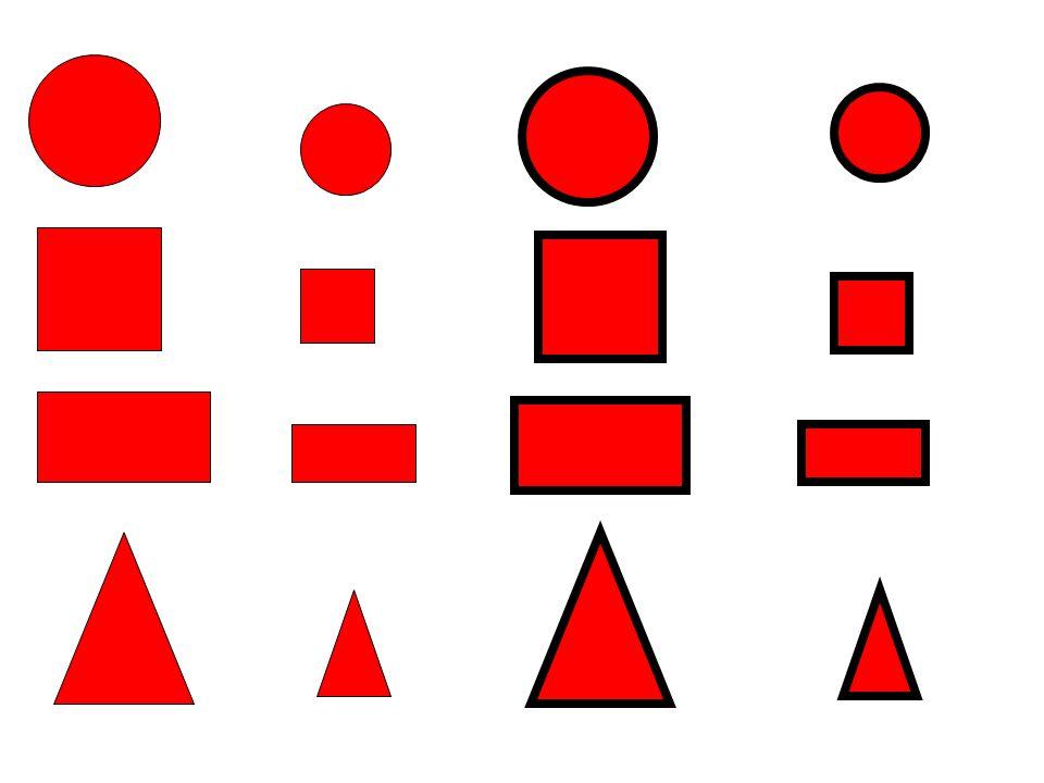 Riconoscimento delle forme geometriche Per esempio: Colora di ROSSO i QUADRATI.