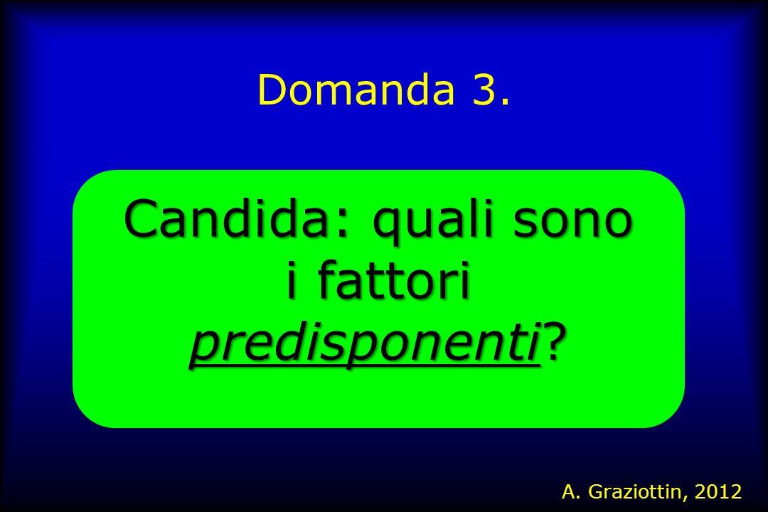 Domanda 3. Candida: quali sono i fattori predisponenti? A. Graziottin, 2012