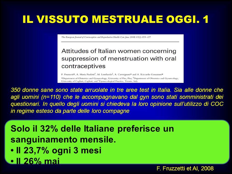 M.SUTTI IL VISSUTO MESTRUALE OGGI. 1 350 donne sane sono state arruolate in tre aree test in Italia. Sia alle donne che agli uomini (n=110) che le acc