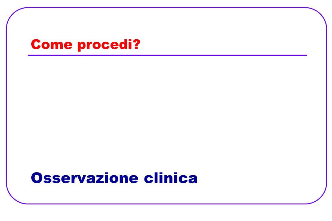 Come procedi? Osservazione clinica