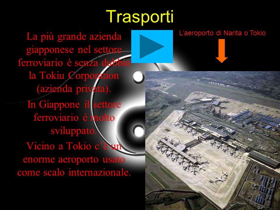 Trasporti La più grande azienda giapponese nel settore ferroviario è senza dubbio la Tokiu Corporation (azienda privata). In Giappone il settore ferro