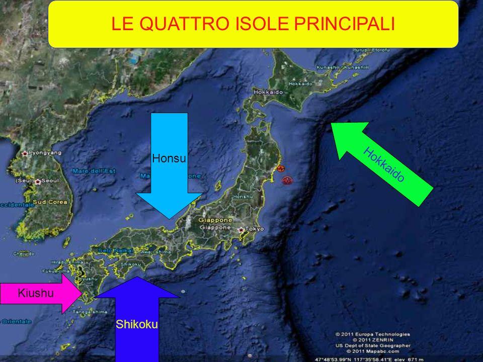 Honsu Hokkaido Kiushu Shikoku LE QUATTRO ISOLE PRINCIPALI