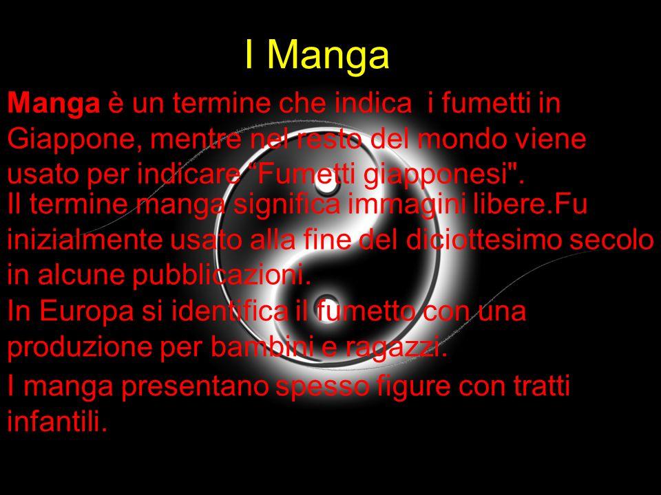 I Manga Manga è un termine che indica i fumetti in Giappone, mentre nel resto del mondo viene usato per indicare Fumetti giapponesi